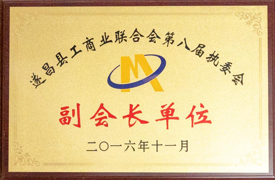 遂昌县工商业联合会第八届执委会副会长单位